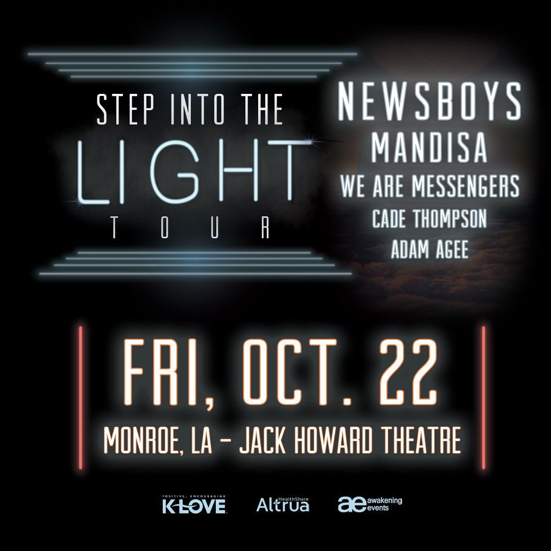 NEWSBOYS Step Into The Light Tour, monroe civic center